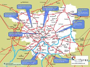 ArtForms Leeds Music Centre map