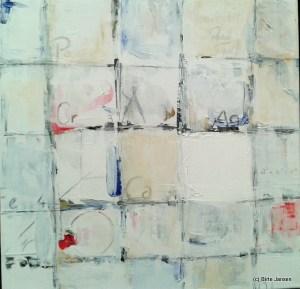 Das weiß umrissene Quadrat von Arno Reinfrank