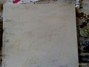 Spuren in weiß (Entwicklungsphase)