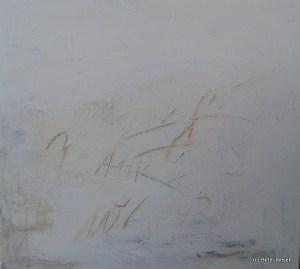 Spuren in weiß (50 x 50cm) Acryl und Strukturpaste
