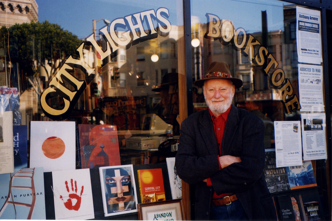 Lawrence Ferlinghetti in 2010. Photo: Stacey Lewis.
