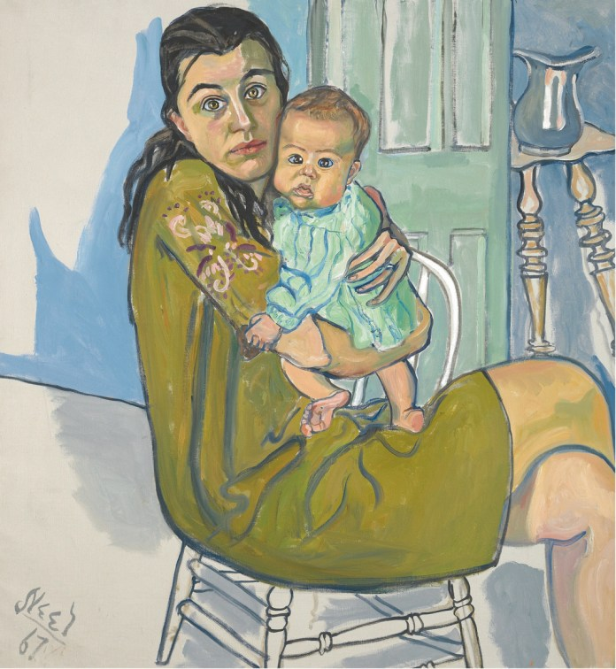"Alice Neel, Nancy and Olivia, 1967, oil on canvas, 39 × 36"". © The Estate of Alice Neel."
