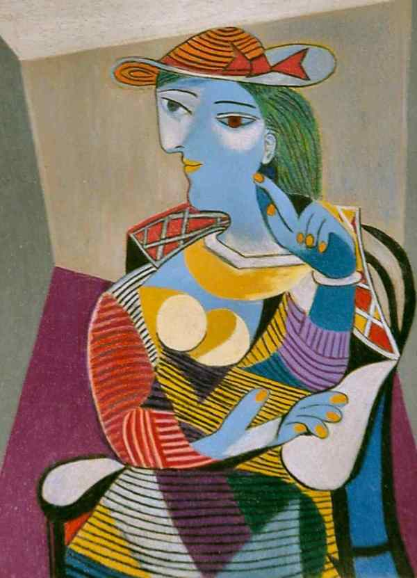 Pablo Picasso Seated Woman Painting
