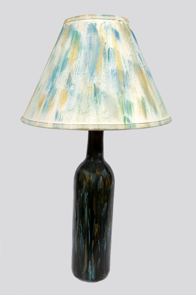 Turquoise and Gold Lamp by Pimm Creations