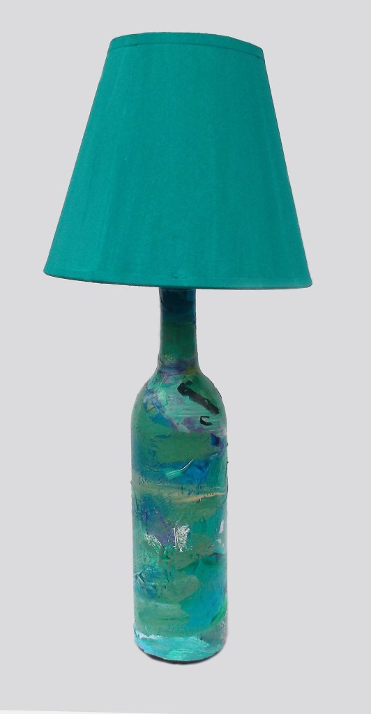 Turquoise Acrylic Skin lamp Lamp by Pimm Creations