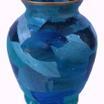 Blue Acrylic Skin Vase by Pimm Creations