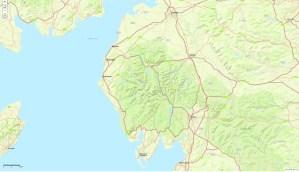 a map of cumbria.