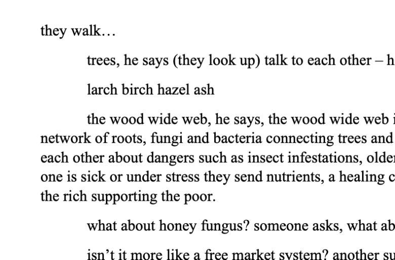 Barbara Renel poem close up