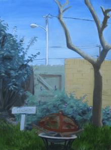 """Backyard"". Oil, 2013"