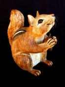 "Large Chipmunk with Pine Cone - approx. 16""H x 11""W x 19""L"