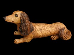 """Long-haired Dachshund - approx. 8""""H x 6""""W x 15""""L"""