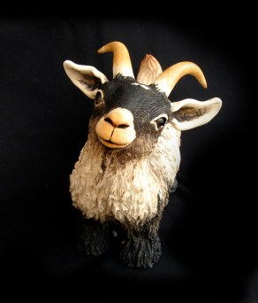 """Goat, table-size - approx. 9""""H x 5""""W x 11""""L"""