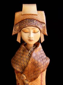 """Japanese Lady - approx. 31""""H x 8""""W x 7""""D"""