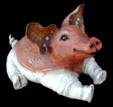 "Lying Pig, large - approx. 21""H x 18""W x 30""D"