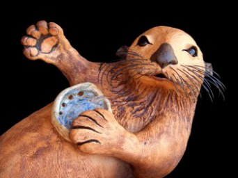 """Waving Otter baby approx. 21""""-23""""L large approx. 26""""-32""""L"""