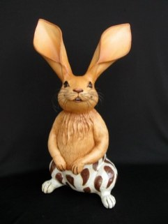 "Chili Pepper Rabbit - approx. 17""-24""H"