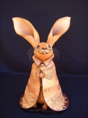 "Caped Rabbits Large, with base - approx. 23""-27""H"