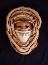 "Round Veiled Mask - approx. 16""H x 15""W x 5""D"