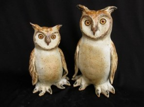 """Great Horned Owls Table-sized, medium - approx. 9""""-10""""T"""