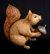 "Large Squirrel with Acorn - approx. 16""H x 19""W x 14""L"