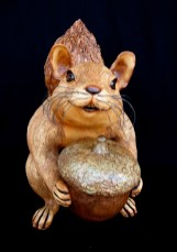 "Large Squirrel with Huge Acorn - approx. 16""H x 19""W x 14""L"