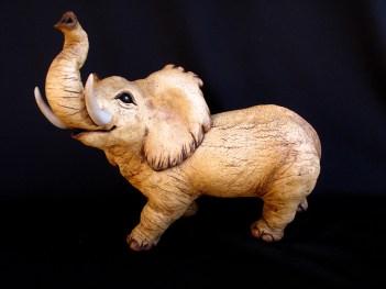 "Elephant, table-size - approx. 10""H x 8""W x 13""L"
