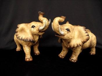 "Elephants, table-size - approx. 9""H x 6.5""W x 14""L"