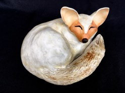 "Small Sleeping Fox - approx. 5""H x 10""W x 9""L"