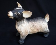 "Baby Goat - approx. 9""H x 6""W x 10.5""L"