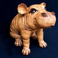 """Small Sitting Hippo - approx. 13""""T 9""""W x 16""""L"""