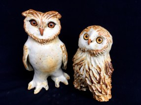 "Owls, table-size - 9.5-8""H x 5-6""W x 4""D"