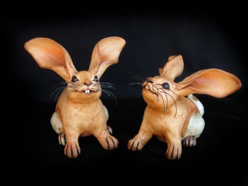 """Sitting Table Rabbits - approx. 6""""-8""""H"""