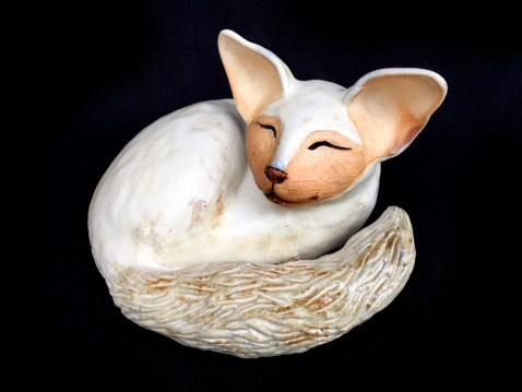 "Sleeping Cat - approx. 6""H x 8""W x 7.5""L"