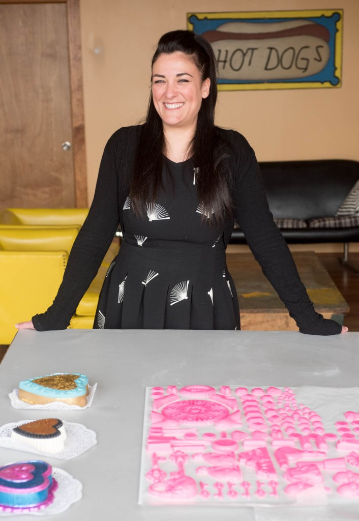 Mallorie Freeman and her handmade chocolate art for Rooms To Let.
