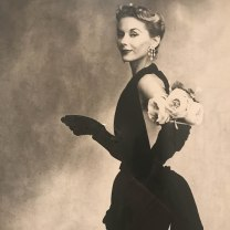 Woman with Roses (Lisa Fonssagrives-Penn in Lafaurie Dress) :: Paris :: 1950 :: Irving Penn