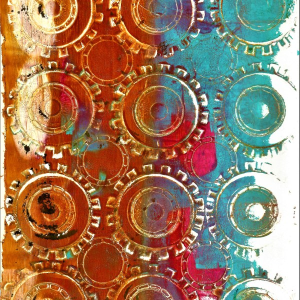 Gelli plate mixed media artist paper pack #2 10 pieces/pack
