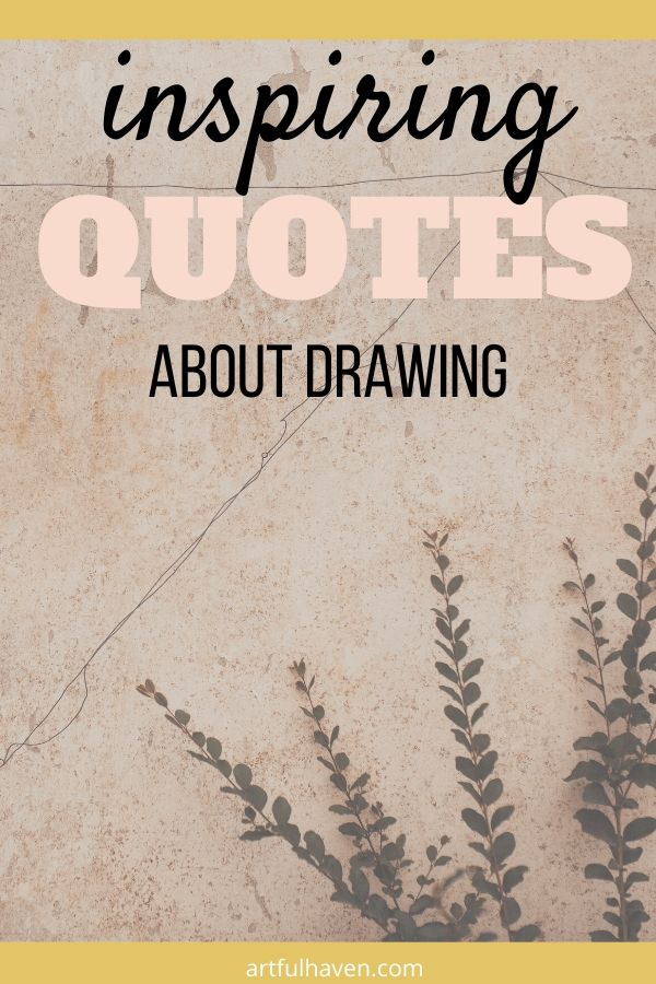 Inspirational Quotes To Draw : inspirational, quotes, Drawing, Quotes, Inspire, Journal, Pages, Artful, Haven