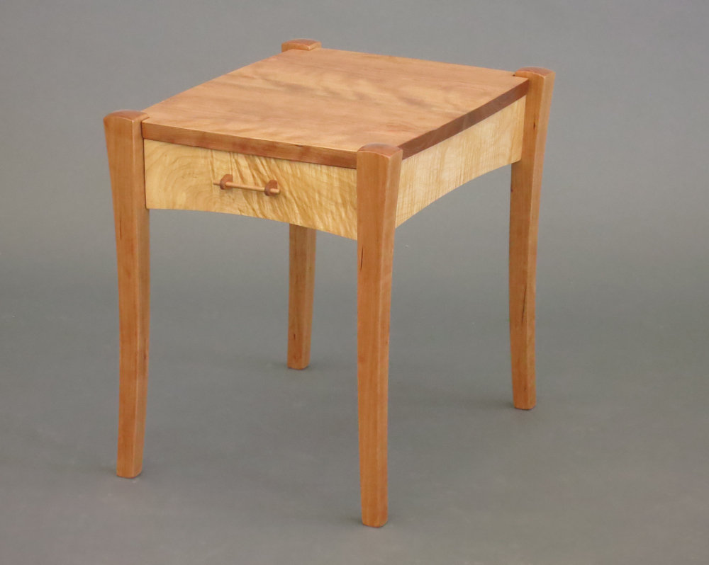Tusk Table By Steven M. White (Wood Side Table)