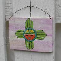 original primitive sunface painting native american folk ...