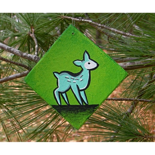Woodland Animals Christmas Tree Ornaments