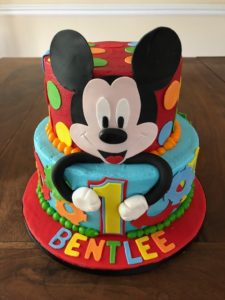Astonishing Mickey Mouse First Birthday Cake Artfully Delicious Personalised Birthday Cards Bromeletsinfo