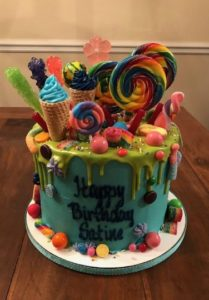 Candy Explosion Birthday Cake