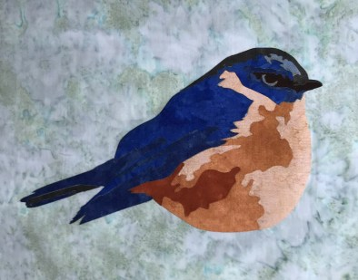 Bluebird of Hope Fusible Laser Cut Applique Kit