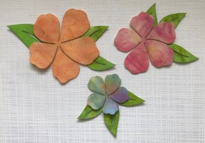 """Artfully Quilted Design LLC """"Watercolor Flowers"""" Scatterings"""
