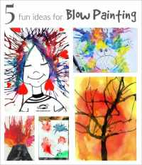 Blow Painting with Straws :: Super Fun, Super Simple Art ...