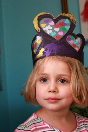 DIY Heart Crowns For Valentines Day