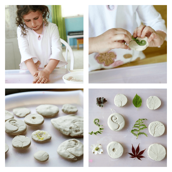 Make Nature Prints with Air Dry Clay