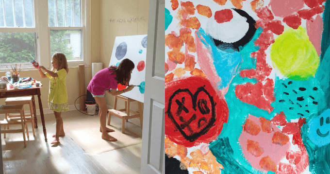 canvas art with kids