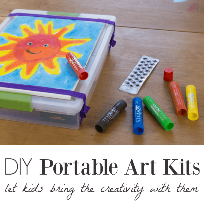 DIY Portable Art Kits For Kids To Use For Family Trips And