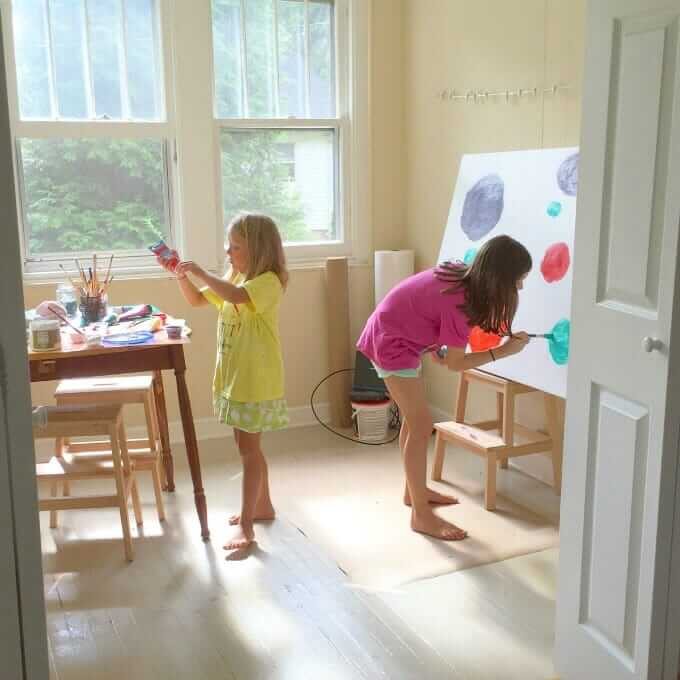 Art Spaces for Kids - 6 Simple Ways to Set Up for Art in Your Home